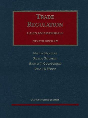 Antitrust Law: Trade Regulation (AK-Sg)