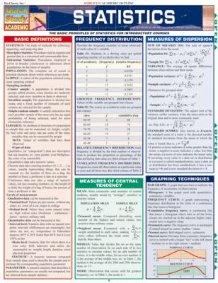 Statistics (Quickstudy Reference Guides - Academic)