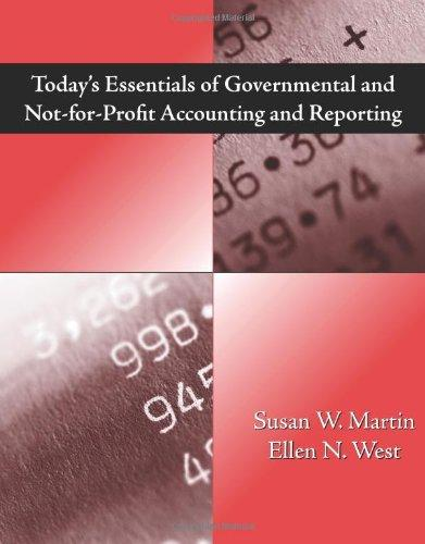 Today's Essentials of Governmental and Not-for-Profit Accounting and Reporting