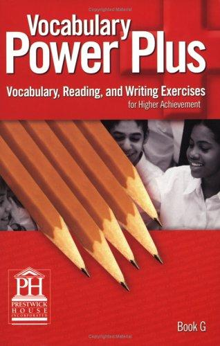 Vocabulary Power Plus Book G