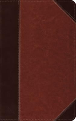 Holy Bible English Standard Version, Brown/Cordovan, Portfolio Design, Red Letter, Thinline Trutone