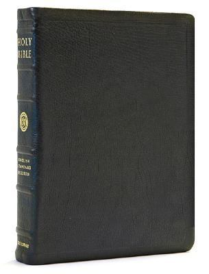 Holy Bible English Standard Version, Black Premium Calfskin Leather, Black Letter, Single Column Reference Edition
