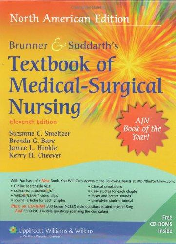 Brunner & Suddarth's Textbook of Medical Surgical Nursing, 11th Edition (2 Volumes)