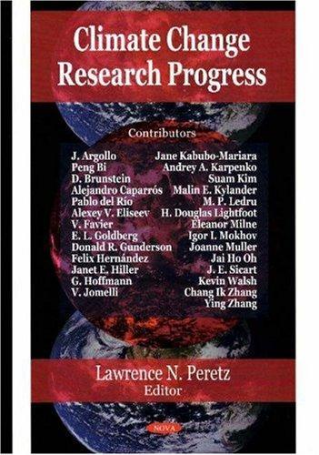 Climate Change Research Progress