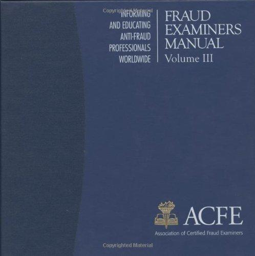 Fraud Examiners Manual