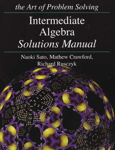 Introduction to Algebra Solutions Manual the Art of Problem Solving