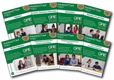 Manhattan GRE Set of 8 Strategy Guides, 3rd Edition