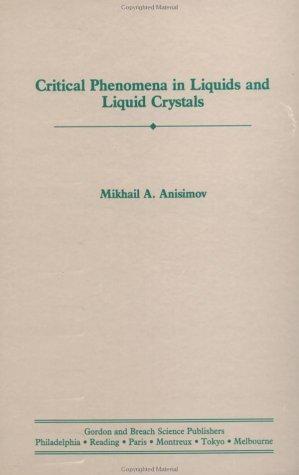 Critical Phenomena Liquids Liq