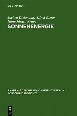 Sonnenenergie Herausforderung Fur Forschung, Entwicklung Und Internationale Zusammenarbeit