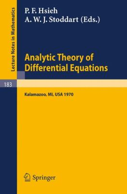 Analytic Theory Of Differential Equations