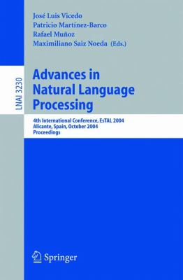 Advances In Natural Language Processing 4th International Conference, Estal 2004, Alicante, Spain, October 20-22, 2004. Proceedings