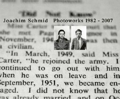 Joachim Schmid Photoworks 1982-2007