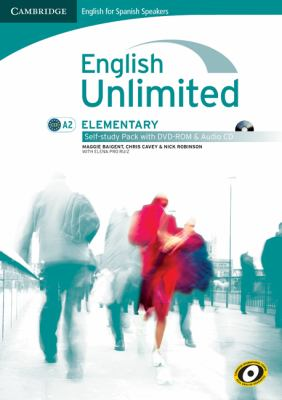 English Unlimited for Spanish Speakers Elementary Self-study Pack (Workbook with DVD-ROM and Audio CD)