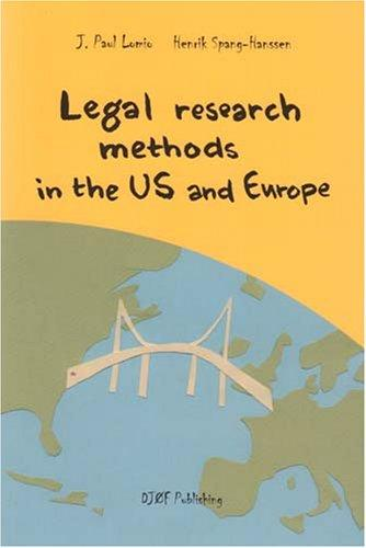 Legal Research Methods in the U.S. & Europe
