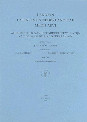 Woordenboek Van Het Middeleeuws Latijn Van De Noordelijke Nederlanden Fasc - 43
