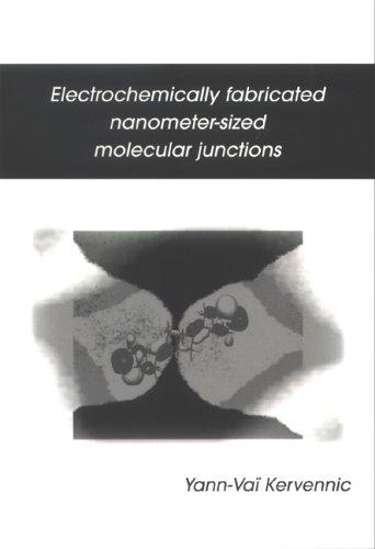 Electrochemically fabricated nanometer-sized molecular junctions