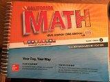 California Math - Your Common Core Edition CCSS Course 1 Volume 2 Teacher Walkaround Edition