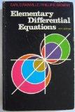 Elementary Differential Equations