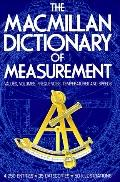 MacMillan Dictionary of Measurement