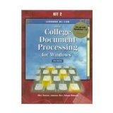 Gregg College Document Processing for Windows: Lessons 61-120 for Use With Wordperfect 7.0