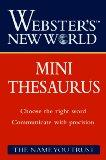 Webster's New World Mini Thesaurus - Joyce L. Vedral - Paperback
