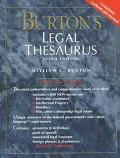 Burton's Legal Thesaurus (paper)