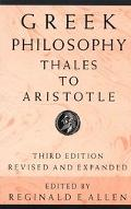 Greek Philosophy Thales to Aristotle