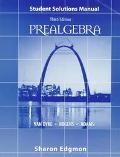 Prealgebra Student Solutions Manual