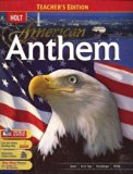 Holt American Anthem: TEACHERS EDITION 2007 Edition