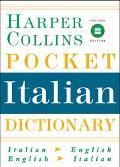 Harpercollins Pocket Italian Dictionary Italian English English Italian