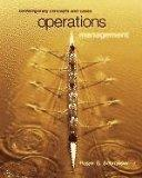 Operations Management - Contemporary Concepts (00) by Schroeder, Roger G [Paperback (2000)]