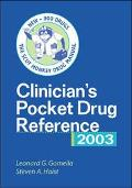 Clinician's Pocket Drug Reference 2003