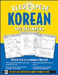 Read and Speak Korean for Beginners (Book W/Audio CD)