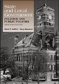 State and Local Government Politics and Public Policies