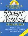 Random House Webster's Student Notebook Thesaurus
