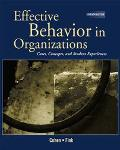 Effective Behavior in Organizations Cases, Concepts, and Student Experiences
