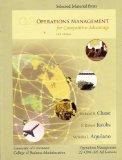 Selected Material From Operations Management (for Competitive Management, University of Cinc...