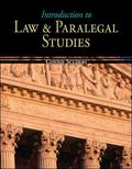Introduction to Law and Paralegal Studies