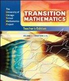UCSMP Transition Mathematics: Teacher's Edition, Vol. 1, Chapters 1-6