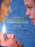 Elements of Interpersonal Communication (Arizona State University - Tempe COM 110)