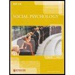 Psy110 Social Psychology Strayer University