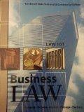 LAW 101, Business Law, Cincinnati State Technical & Community College