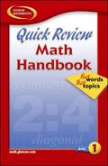 Quick Review Math Handbook Hot Words, Hot Topics, Book 1