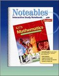 Mathematics Applications And Concepts, Course 1, Noteables Interactive Study Notebook With F...