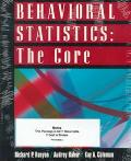 Behavioral Statistics The Core