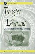 Transfer of Learning Cognition, Instruction, and Reasoning