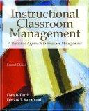 Instructional Classroom Management A Proactive Approach to Behavior Management