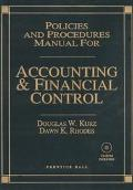 Policies and Procedures Manual for Accounting and Financial Control - Douglas W. Kurz - Hard...