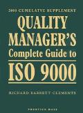 Quality Manager's Complete Guide to ISO 9000: 2000 Edition - Richard Barrett Clements - Pape...