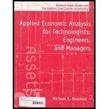 Applied Economic Analysis, for Technologists, Engineers, and Managers: Student Study Guide &...